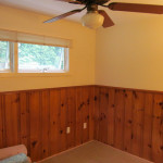 Guest Room Makeover Painted Wood Paneling
