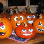 Halloween Decor Painted Pumpkins
