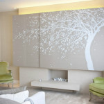 Hand Painted Paper Silk Wall Covering Murals Paintings
