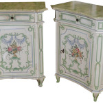 Hand Painted Primitive End Tables Design Ideas That