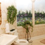 Hand Painted Wall Mural Bathrooms Design