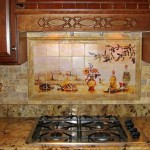 Hand Painted Wall Tiles For French Country Kitchen Decor