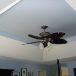 Here Pic Our Painted Tray Ceiling Did Not Cut The Paint