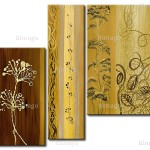 Home Paintings Abstract Flower Motifs Flowers Gold