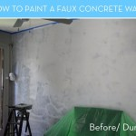 How Paint Faux Concrete Wall That Looks Like The Real Thing