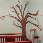 How Paint Tree Wall Simple Design