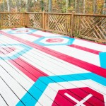 How Stencil Geometric Pattern Deck
