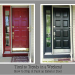 How Strip And Paint Exterior Door