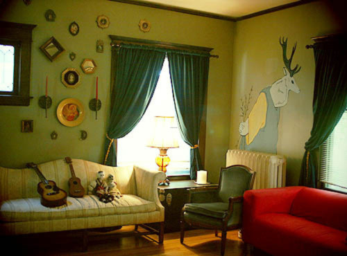 Ideas For Living Rooms Paint Accenting Green Room