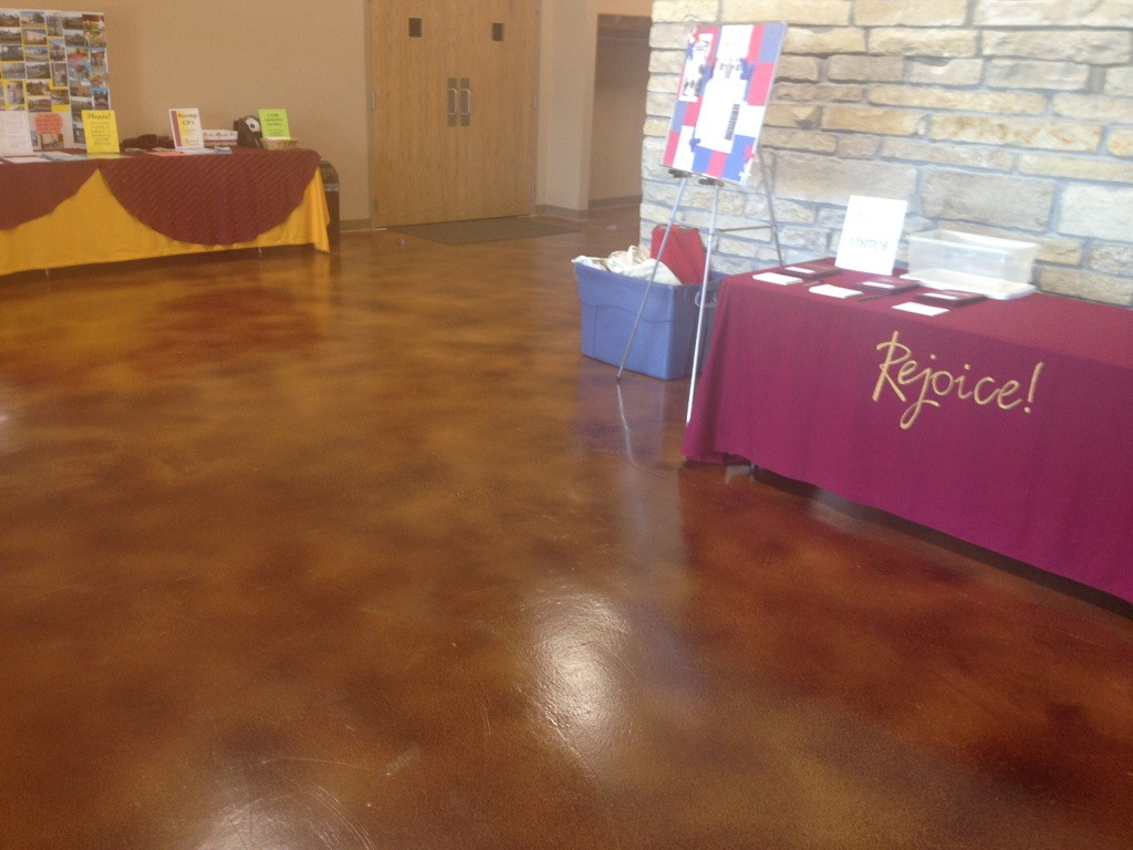 Interior Floor Choices Are Endless From Stained Concrete Finish