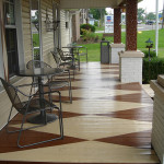 Isn Just For Walls Check Out This Harlequin Painted Porch Floor