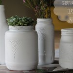 Jars Embellished Puffy Paint Spray Tartryin Diy Reuse