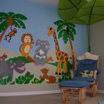 Jungle Paint Number Wall Murals
