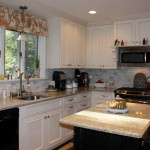 Kitchen Paint Color Ideas White Cabinets And Curtain Window