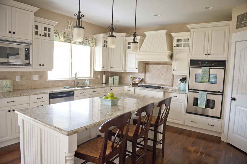 Kitchen Paint Color Ideas White Cabinets And Granite Countertops