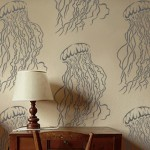 Large Jellyfish Wall Stencil Reusable Easy Diy Home Decor Design