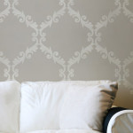 Large Wall Stencil Acanthus Trellis Allover Great Alternatiive
