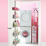 Laundry Room Design Pink Color Paint Look Adorable Cool