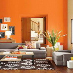 Living Room Paint Color Orange Wall