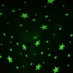 Lot Glow The Dark Stars Attached Wall And Ceiling