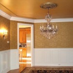 Metallic Gold Paint The Ceiling And Aged Trim