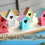Mod Podged And Painted Birdhouses