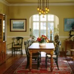 Modern Dining Room Decorating Ideas Abstract Painting And Calm