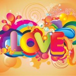 Name Colorful Love Vector Art