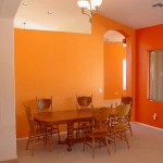 Orange Walls Fall Paint Colors Dining Room