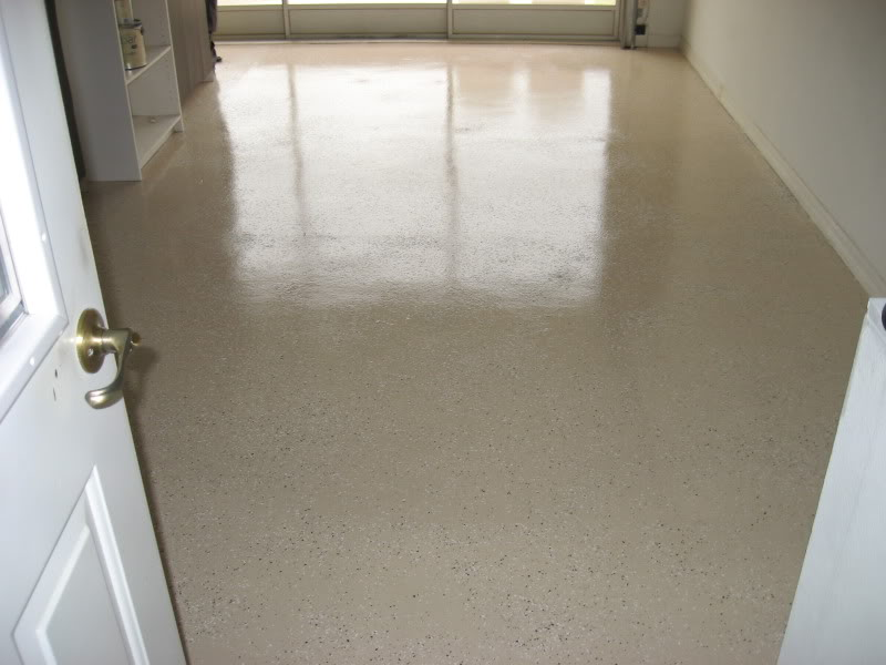 Over Their Garage Floor Some Kind Paint Tiles Epoxy