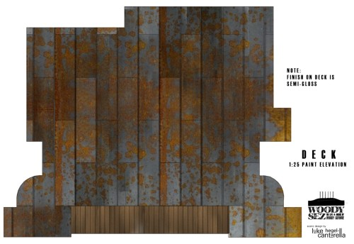 Paint Elevation Deck Designed Look Like Rusted Metal Roof