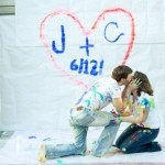Paint Fight Engagement Freaking Adorable