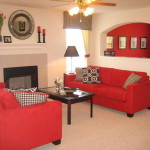 Paint Living Room Red Sofa