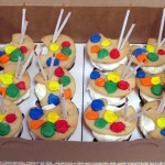 Paint Party Ideas Painting Cupcakes Buttercream Frosted