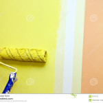 Paint Roller Pole Against Two Color Wall Home Building
