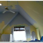 Paint Vaulted Ceiling Out Ladder
