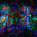 Paint Wall Drawings Rave Party Black Light Artisitic Photgraphy Fun