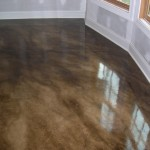 Painted Concrete Floor For The Unfinished Basement