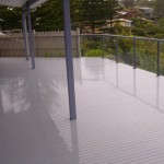 Painted Deck Glass Balustrading