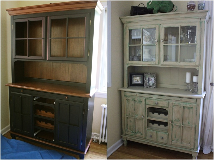 Painted Hutch Before After Annie Sloan Chalk Paint
