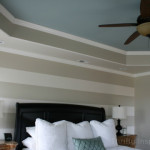 Painted Tray Ceiling Master Bedroom