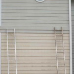 Painting Aluminum Siding Two Ladders