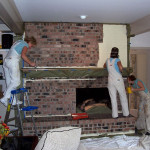 Painting Brick Fireplace Images