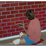 Painting Fake Brick Beginner Challenges Wall