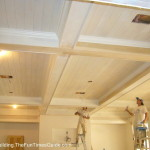 Painting Going This New Great Room Nice Coffered Ceiling