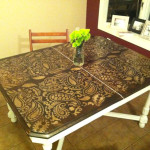 Painting Ideas Stencils Diy Paisley Tabletop