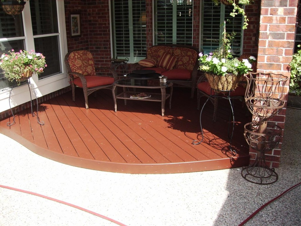 Painting Pressure Treated Wood Curved Deck