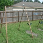 Painting Projects Fence Swingset