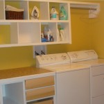 Painting The Shelving Basement Laundry Room