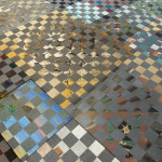 Painting Tile Floor Found Paintings Spray Paint Concrete Plywood